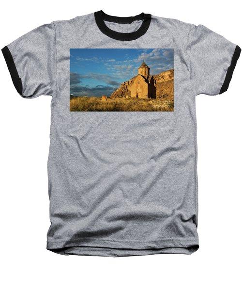 Medieval Areni Church Under Puffy Clouds, Armenia Baseball T-Shirt by Gurgen Bakhshetsyan