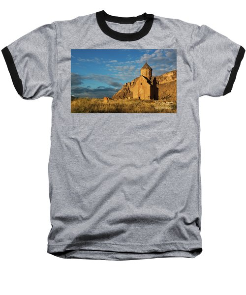Medieval Areni Church Under Puffy Clouds, Armenia Baseball T-Shirt