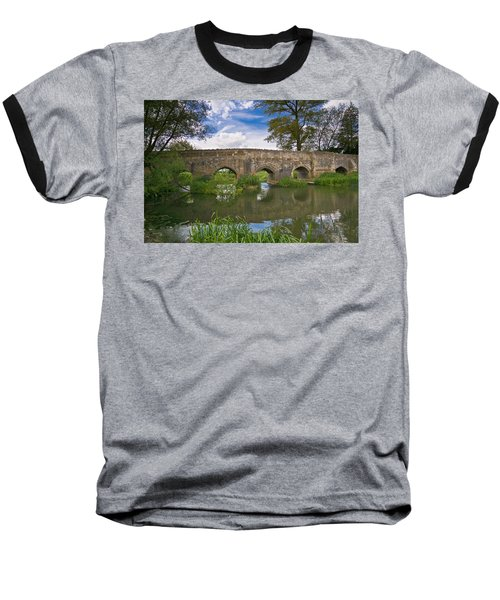 Medieval Bridge Baseball T-Shirt by Scott Carruthers