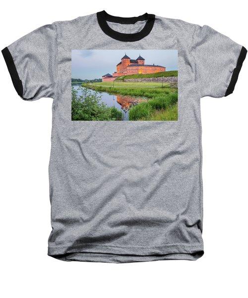 Medieval Castle Baseball T-Shirt by Teemu Tretjakov