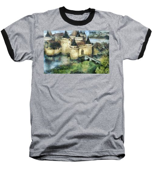 Medieval Knight's Castle Baseball T-Shirt by Sergey Lukashin