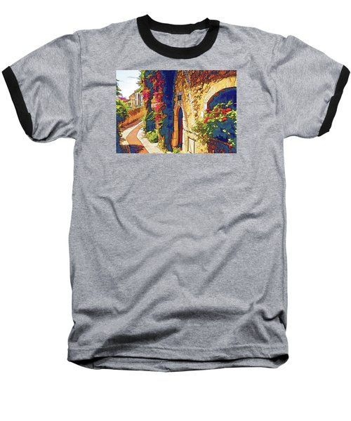 Baseball T-Shirt featuring the photograph Medieval Saint-paul-de-vence by Dennis Cox WorldViews