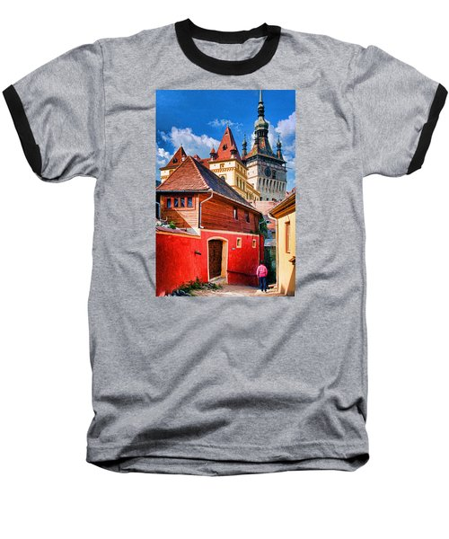 Medieval Sighisoara Baseball T-Shirt by Dennis Cox WorldViews