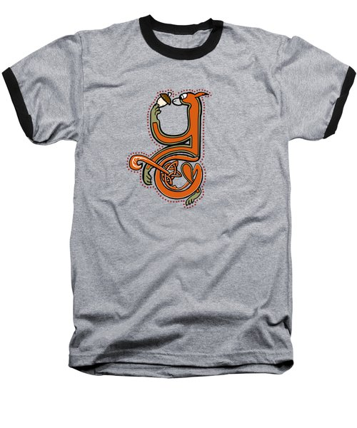 Medieval Squirrel Letter Y Baseball T-Shirt