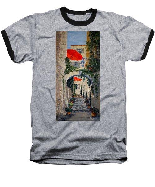Medieval Steps At St Paul De Vence Baseball T-Shirt by Marilyn Zalatan