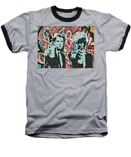 Medieval Street Art Baseball T-Shirt