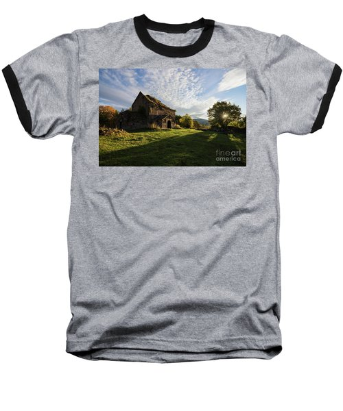 Medieval Tezharuyk Monastery During Amazing Sunrise, Armenia Baseball T-Shirt