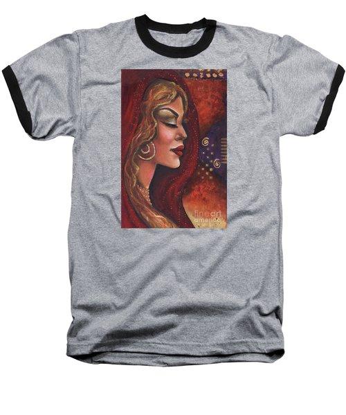 Baseball T-Shirt featuring the mixed media Meditate by Alga Washington