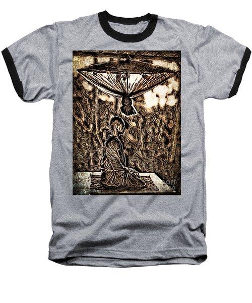 Meditating Monk Baseball T-Shirt