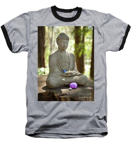 Meditation Buddha With Offerings Baseball T-Shirt
