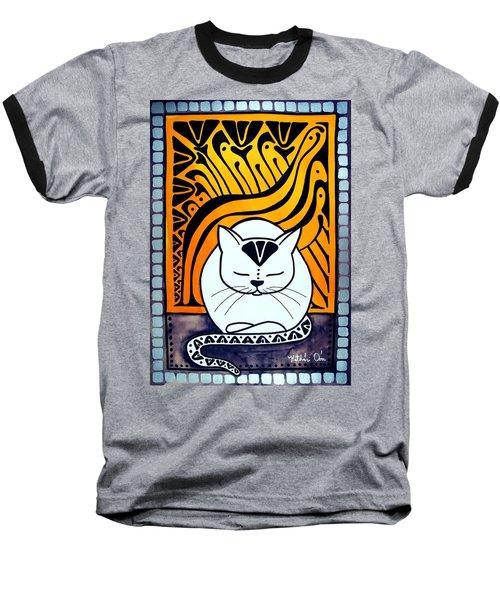 Meditation - Cat Art By Dora Hathazi Mendes Baseball T-Shirt