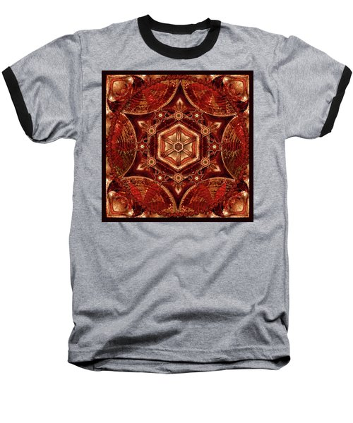 Baseball T-Shirt featuring the digital art Meditation In Copper by Deborah Smith