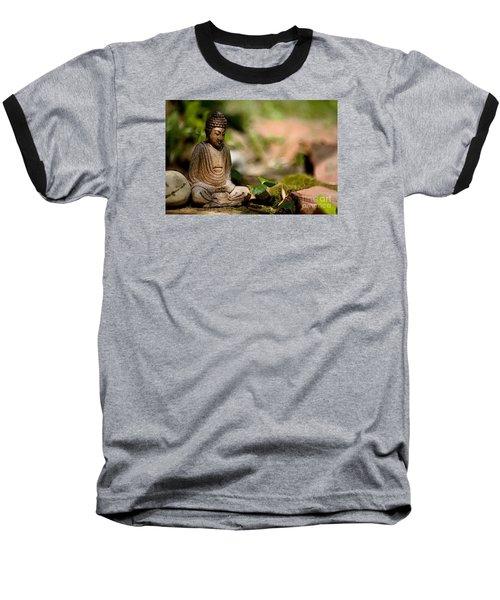 Meditation Baseball T-Shirt by Jean Bernard Roussilhe