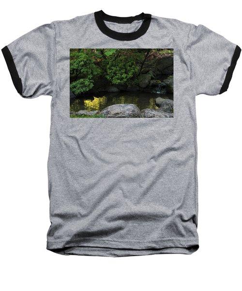 Meditation Pond Baseball T-Shirt