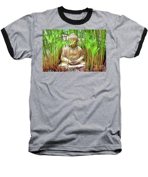 Meditation Baseball T-Shirt by Ray Shrewsberry