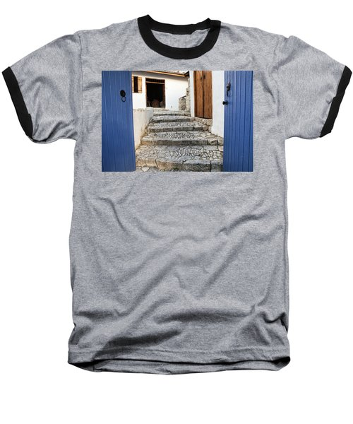 Mediteranean Old House Baseball T-Shirt