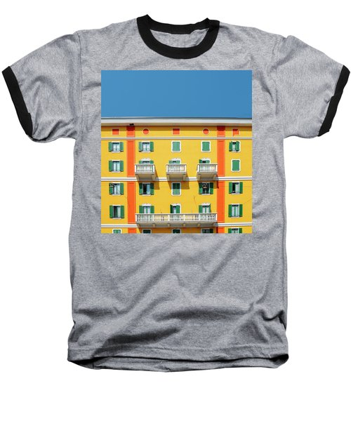 Mediterranean Colours On Building Facade Baseball T-Shirt