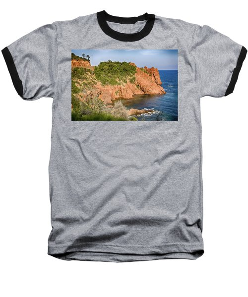 Mediterranean French Coastline Baseball T-Shirt