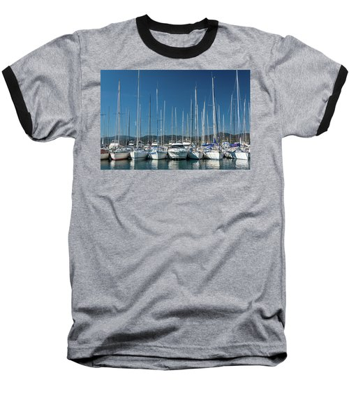Mediterranean Marina Baseball T-Shirt
