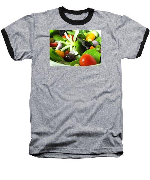 Mediterranean Salad Baseball T-Shirt