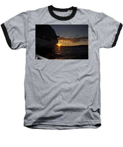 Mediterranean Sunset Baseball T-Shirt