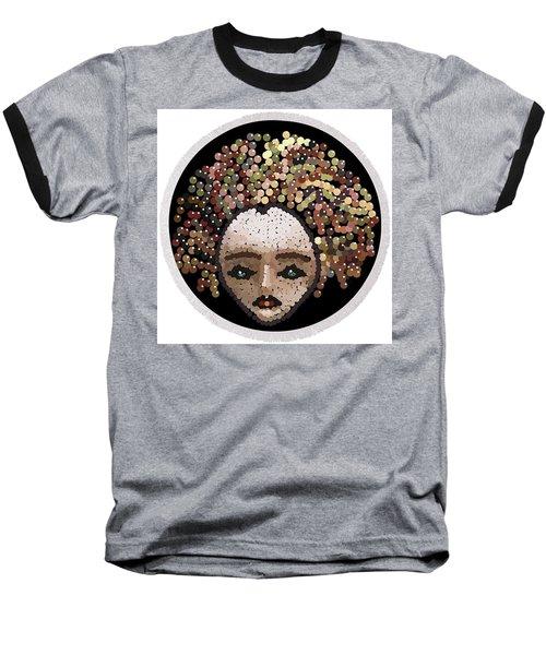 Baseball T-Shirt featuring the digital art Medusa Bedazzled Round Beach Towel by R  Allen Swezey
