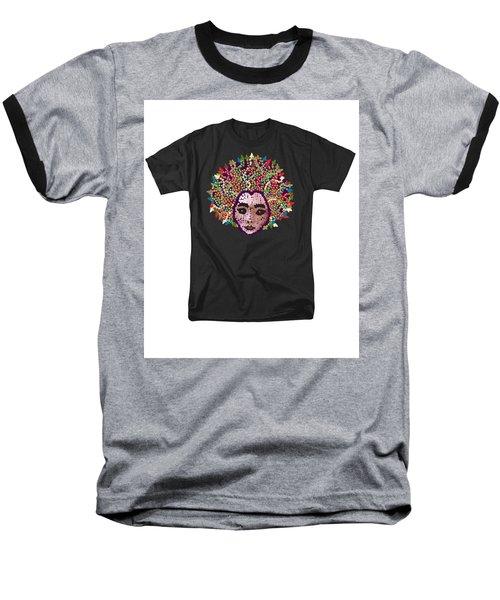 Baseball T-Shirt featuring the digital art Medusa Bedazzled Tee by R  Allen Swezey