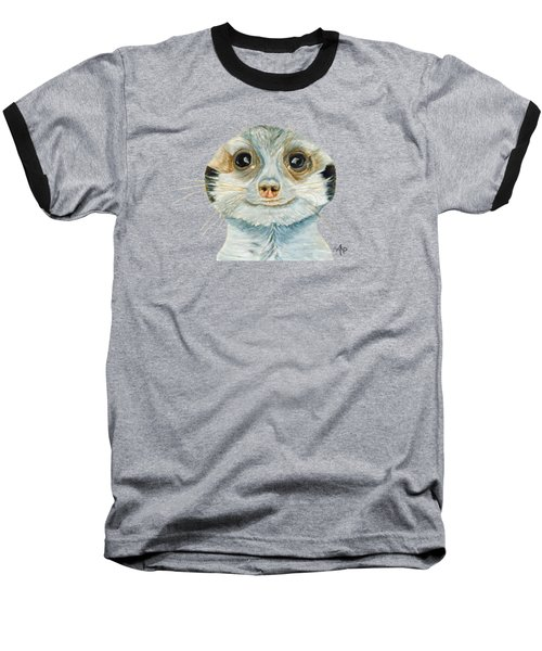 Meerkat Baseball T-Shirt by Angeles M Pomata