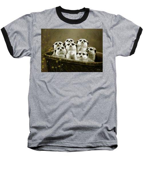 Baseball T-Shirt featuring the digital art Meerkats by Thanh Thuy Nguyen