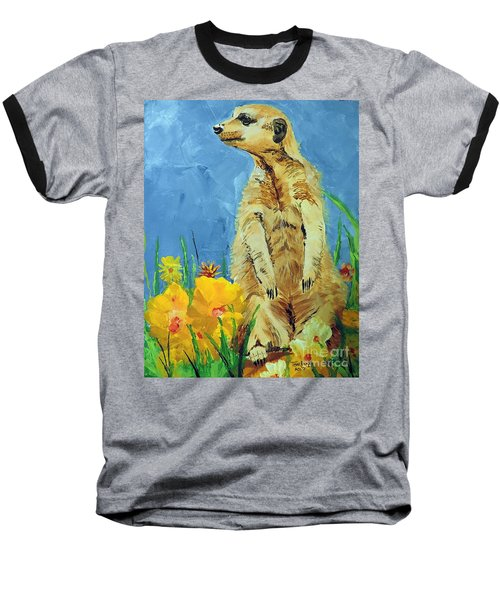 Meerly Curious Baseball T-Shirt