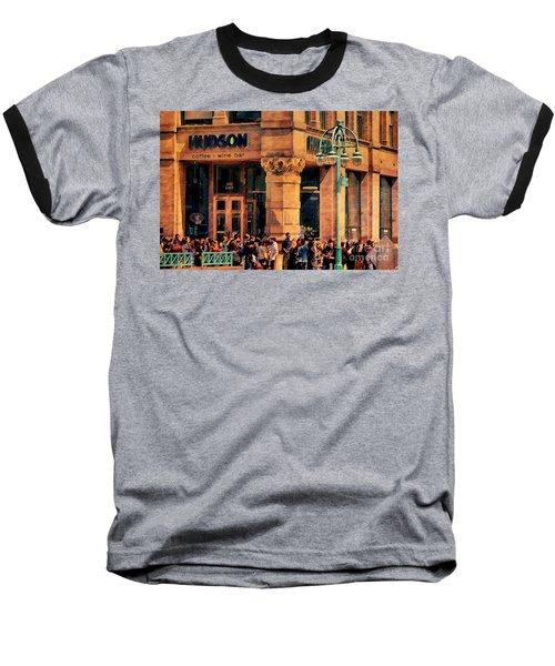 Meet You At Hudson's Baseball T-Shirt by David Blank