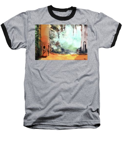 Baseball T-Shirt featuring the painting Meeting On A Date by Anil Nene