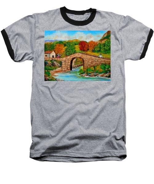 Meeting On The Old Bridge Baseball T-Shirt