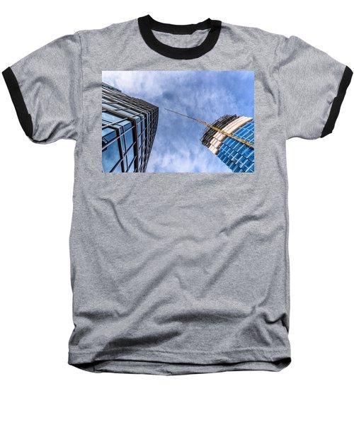 Meeting The New Neighbor Baseball T-Shirt by Randy Scherkenbach