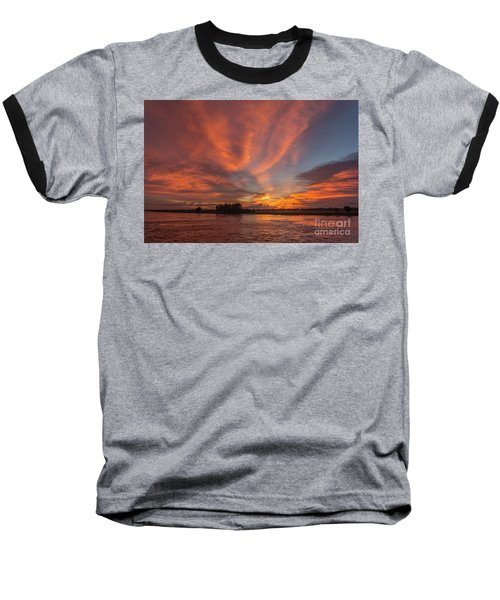 Baseball T-Shirt featuring the photograph Mekong Sunset 3 by Werner Padarin