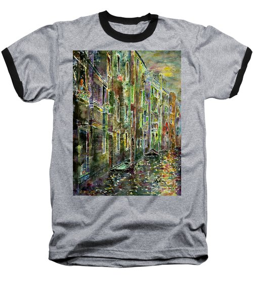 Baseball T-Shirt featuring the painting Melanconia by Alfred Motzer