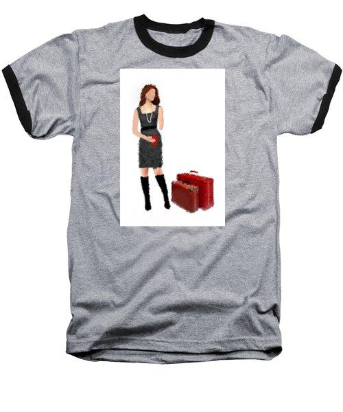 Baseball T-Shirt featuring the digital art Melanie by Nancy Levan