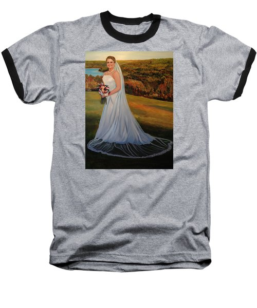 Baseball T-Shirt featuring the painting Melissa by Alan Lakin