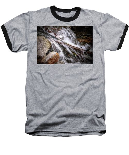 Melting Snow Falls Baseball T-Shirt by Elaine Malott