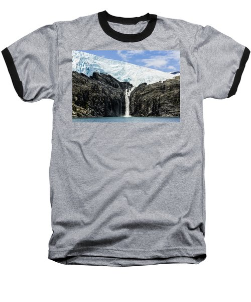 Meltwater From The Northland Glacier Baseball T-Shirt