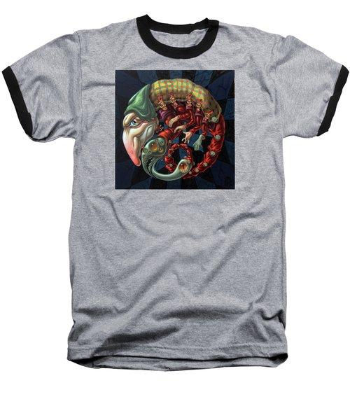Memento Mori. Red Scorpion Baseball T-Shirt