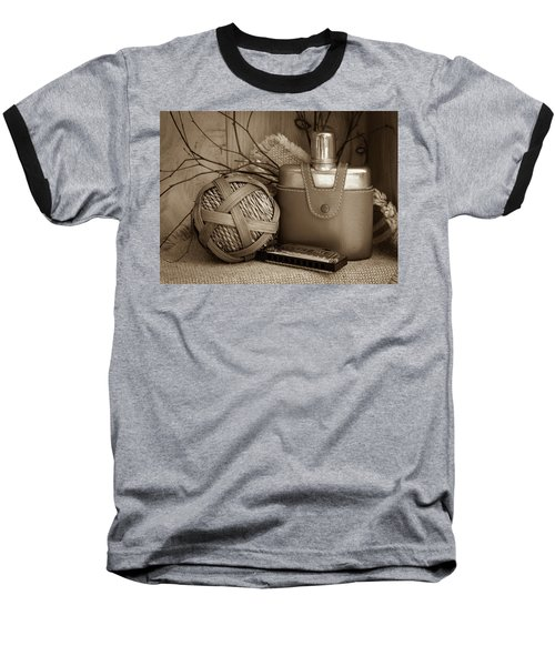 Memories Of The Past Baseball T-Shirt by Patrice Zinck