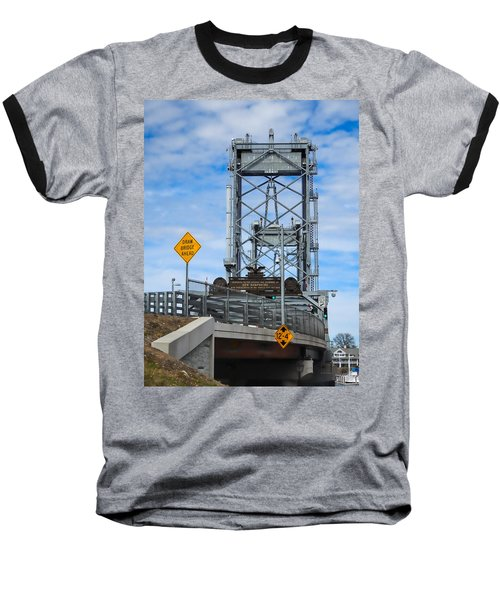 Baseball T-Shirt featuring the photograph Memorial Bridge Portsmouth  Nh by Nancy De Flon