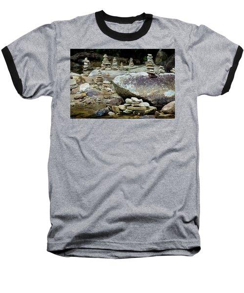 Memorial Stacked Stones Baseball T-Shirt