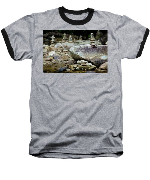 Memorial Stacked Stones Baseball T-Shirt