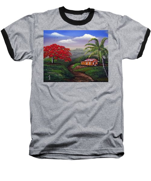 Memories Of My Island Baseball T-Shirt by Luis F Rodriguez