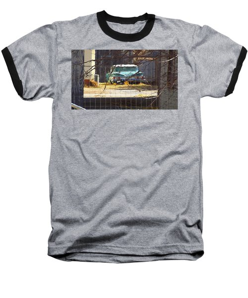 Memories Of Old Blue, A Car In Shantytown.  Baseball T-Shirt
