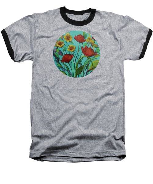 Memories Of The Meadow Baseball T-Shirt by Mary Wolf