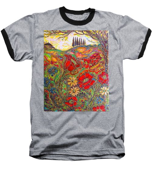 Baseball T-Shirt featuring the painting Memories Of Tuscany by Rae Chichilnitsky