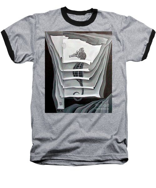 Baseball T-Shirt featuring the painting Memory Layers by Fei A